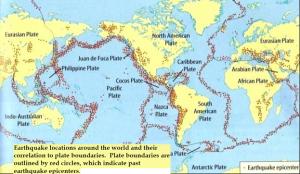 د زلزلې نقشه
