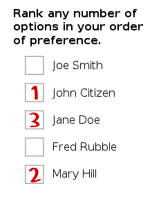 Optional preferential voting (OPV)